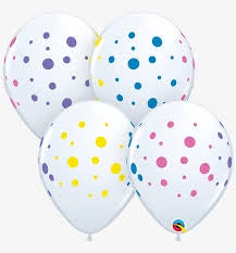"11"" COLORFUL DOTS LATEX BALLOON"