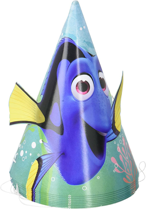 FINDING DORY PARTY CONE HAT 8CT