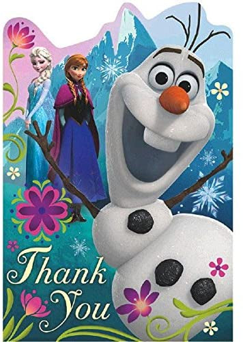 FROZEN THANK YOU CARDS