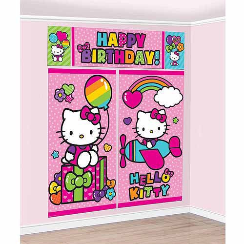 HELLO KITTY SCENE SETTER WALL DECORATING KIT