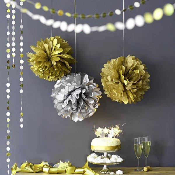 "16"" PUFF BALL FOIL DECORATION"