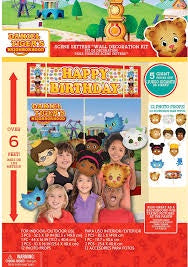 DANIEL TIGERS SCENE SETTER DECORATION KIT WITH PROPS