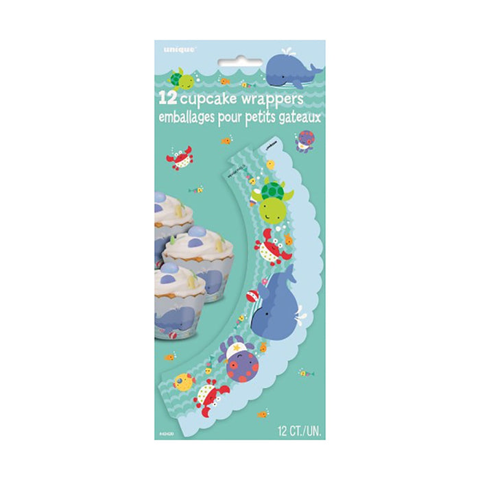 UNDER THE SEA CUPCAKE WRAPPERS 12CT