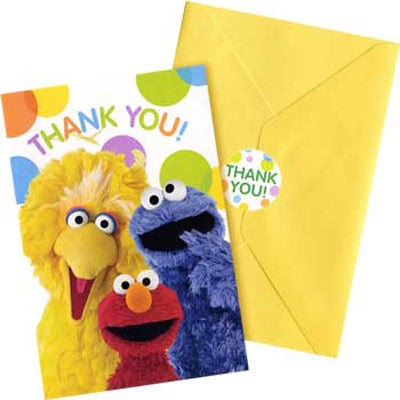 SESAME STREET THANK YOU CARDS