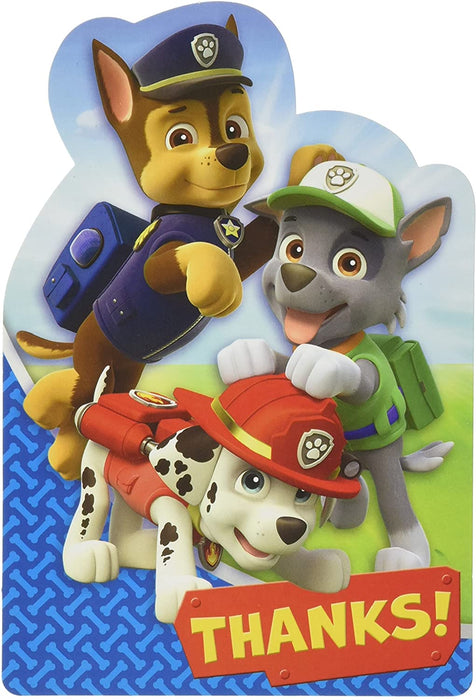 PAW PATROL THANK YOU CARDS 8CT