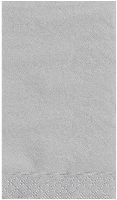 SILVER GUEST NAPKINS 20CT