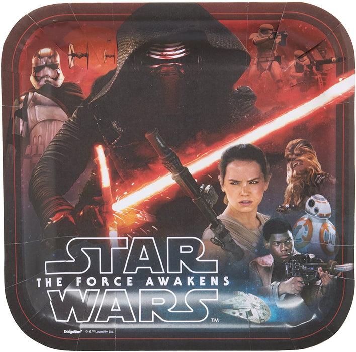 STAR WARS LUNCH SQUARE PLATES 8CT