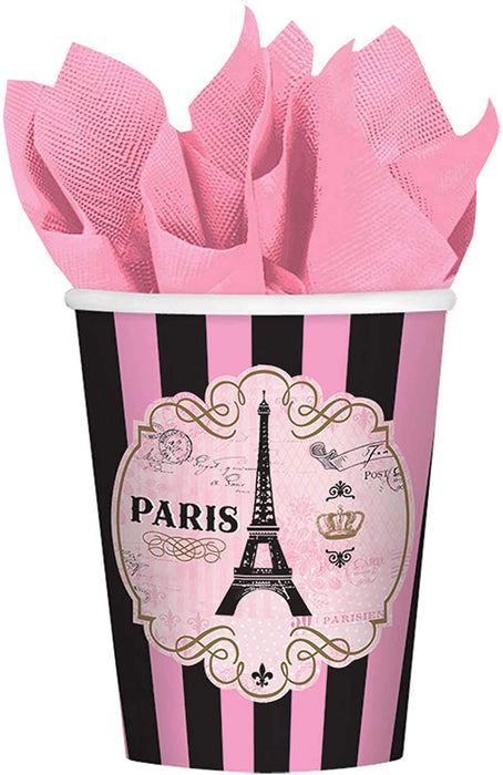 9OZ DAY IN PARIS PAPER CUPS 8CT