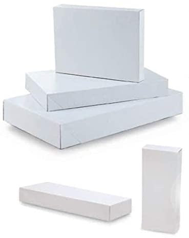 MEDIUM EMBOSSED WHITE BOXES 3CT