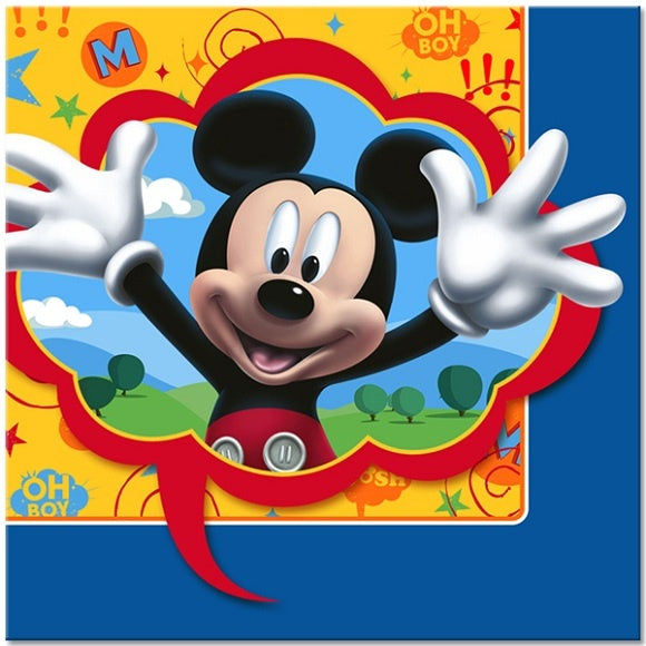 MICKEY MOUSE LUNCH NAPKINS 16CT