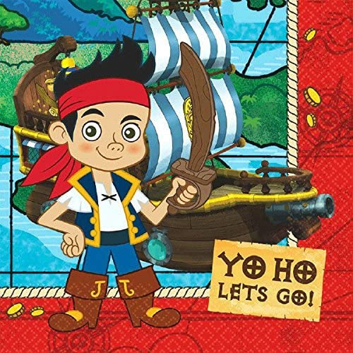 JAKE AND THE NEVERLAND PIRATES LUNCH NAPKINS 16CT