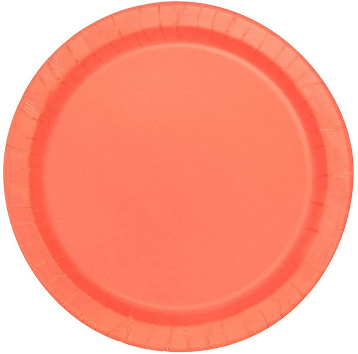 "9"" CORAL ROUND PAPER PLATES 16CT"
