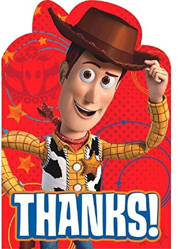 TOY STORY THANK YOU CARDS 8CT