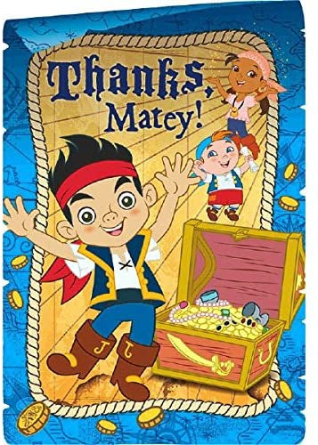 JAKE AND THE NEVER LAND PIRATES THANK YOU CARDS