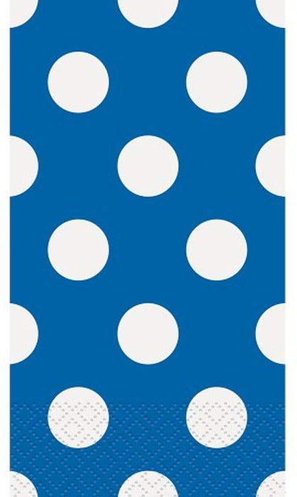 ROYAL BLUE POLKA DOTS GUEST NAPKINS 16CT