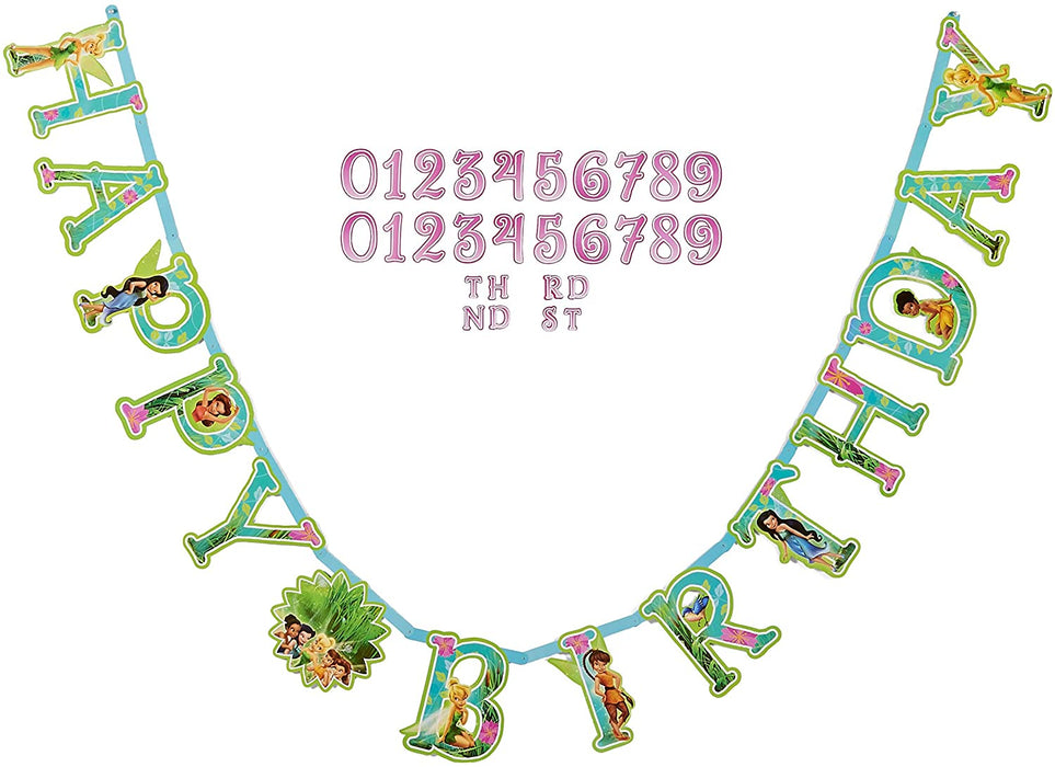TINKERBELL ADD AN AGE JUMBO HAPPY BIRTHDAY BANNER