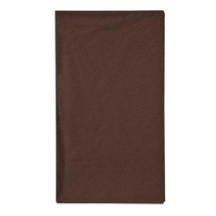 BROWN GUEST NAPKINS 20CT