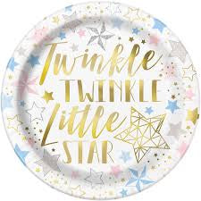 "9"" TWINKLE LITTLE STAR LUNCH PLATE 8CT"