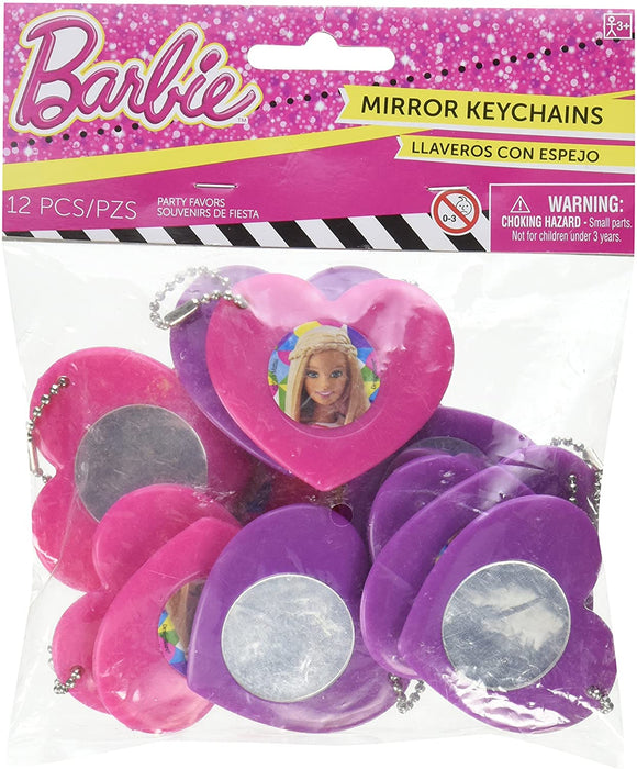 BARBIE SPARKLE COLLECTION HEART MIRROR KEYCHAINS