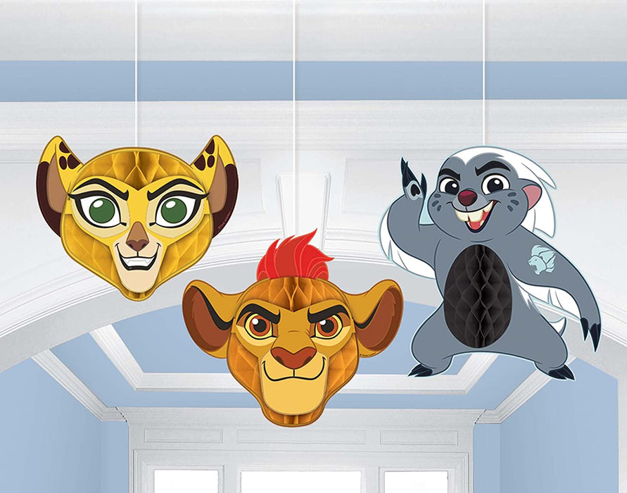THE LION GUARD HONEYCOMB DECORATIONS 3PCS