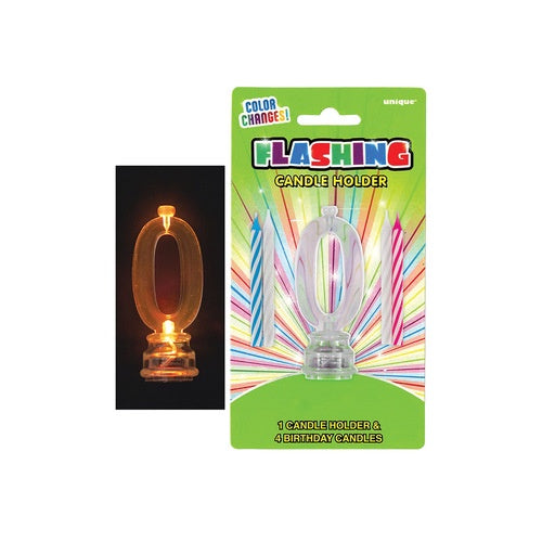 #0 FLASHING CANDLE IN HOLDER