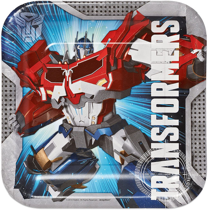 TRANSFORMERS SQUARE  LUNCH PAPER PLATES 8CT