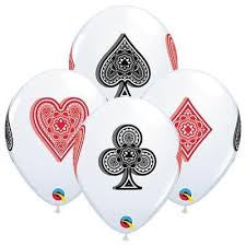 "11"" CARD SUITS LATEX BALLOON"