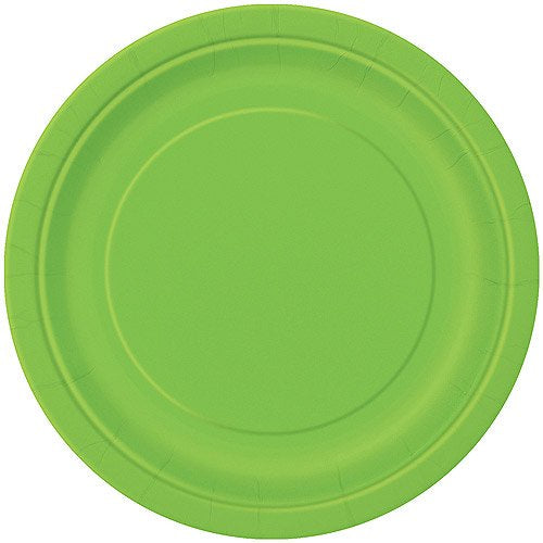"9"" LIME GREEN LUNCH PLATES 16CT"