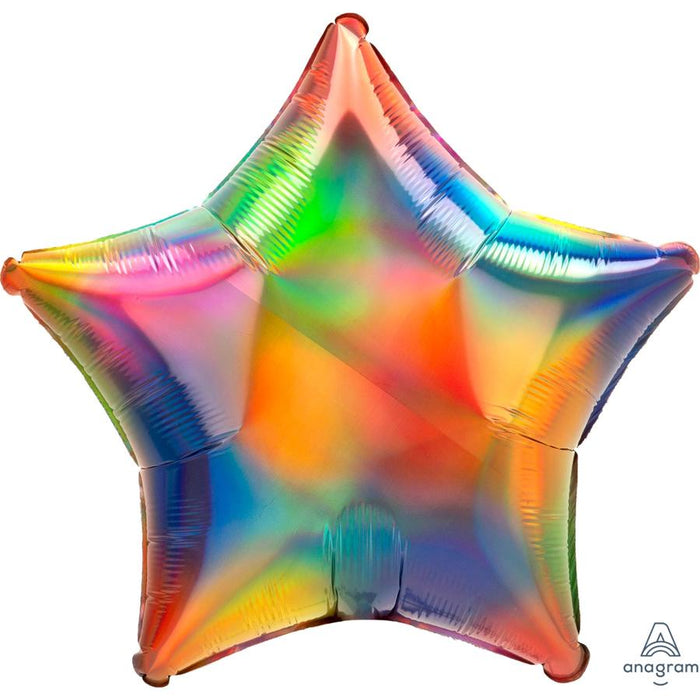 "19"" IRIDESCENT RAINBOW STAR FOIL BALLOON"