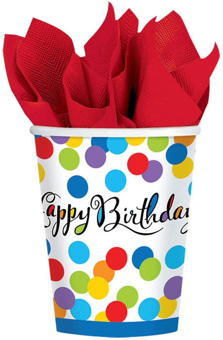 90Z CONFETTI BASH PAPER CUPS 8CT