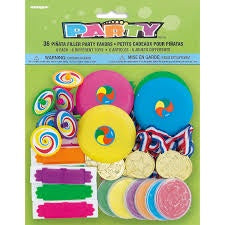 36 PIÑATA FILLER PARTY FAVORS ASSORTED