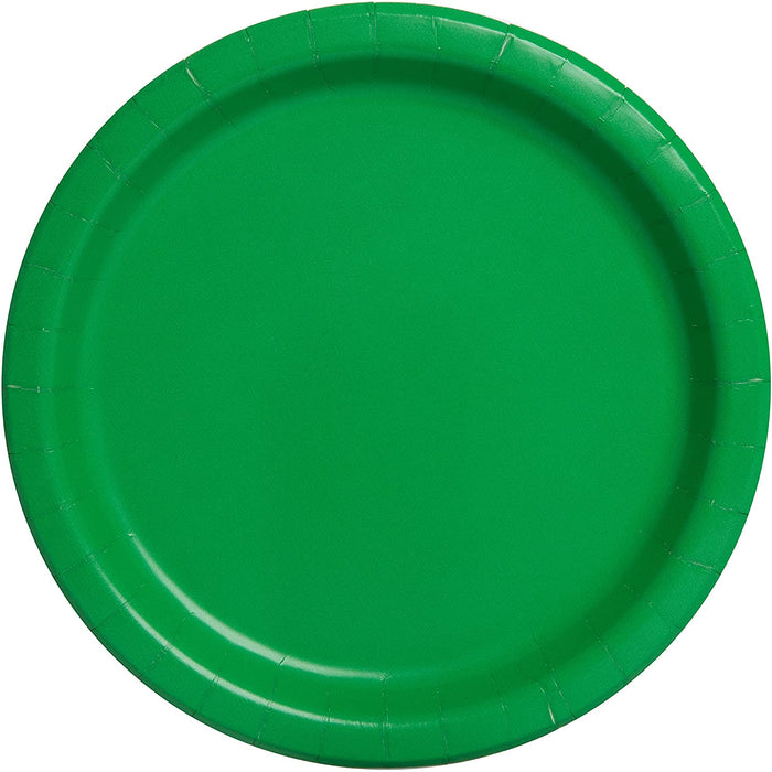 "ROUND PAPER PLATES 9"" EMERALD GREEN 16CT"