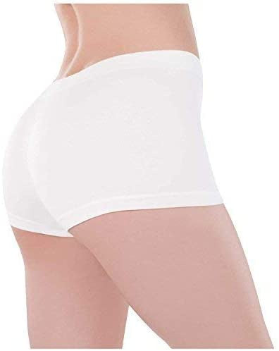 WHITE BOYSHORTS