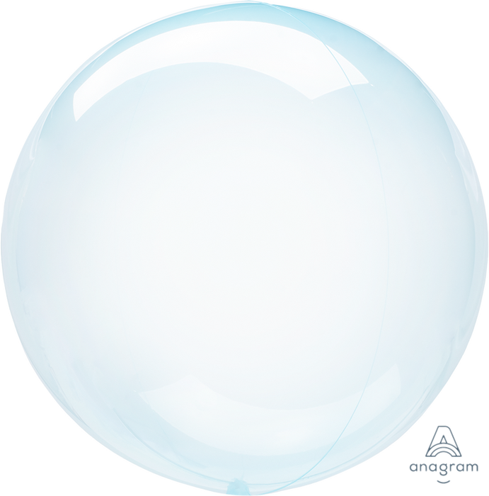 "18"" CRYSTAL CLEARZ ""BLUE"" BUBBLE BALLOON"