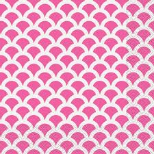 HOT PINK SCALLOP BEVERAGE NAPKINS 16CT