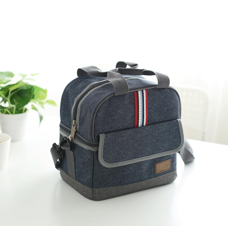 Denim Insulated Lunch Bag