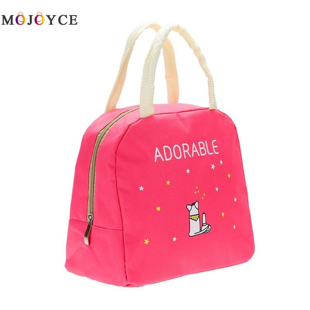 Adorable Insulated Canvas Lunch Bag