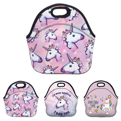 Unicorn Girls Lunch Bag Neoprene