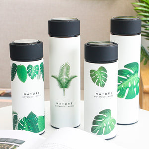 Leaf Nature Design Insulated Thermos with tea strainer infuser.