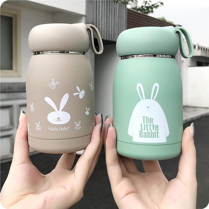 Cute Rabbit Stainless Steel Thermal Vacuum Flask Belly Cup