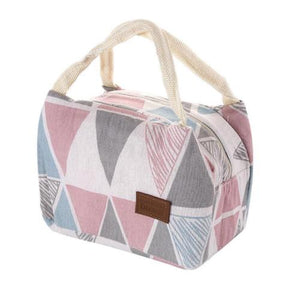 Modern Insulated Canvas Lunch Bag