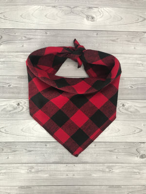Red Buffalo Plaid Bandana