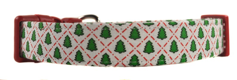 Christmas Trees Dog Collar
