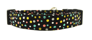 Confetti in Black Dog Collar - Collars by Design