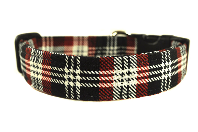 Large Plaid Dog Collar