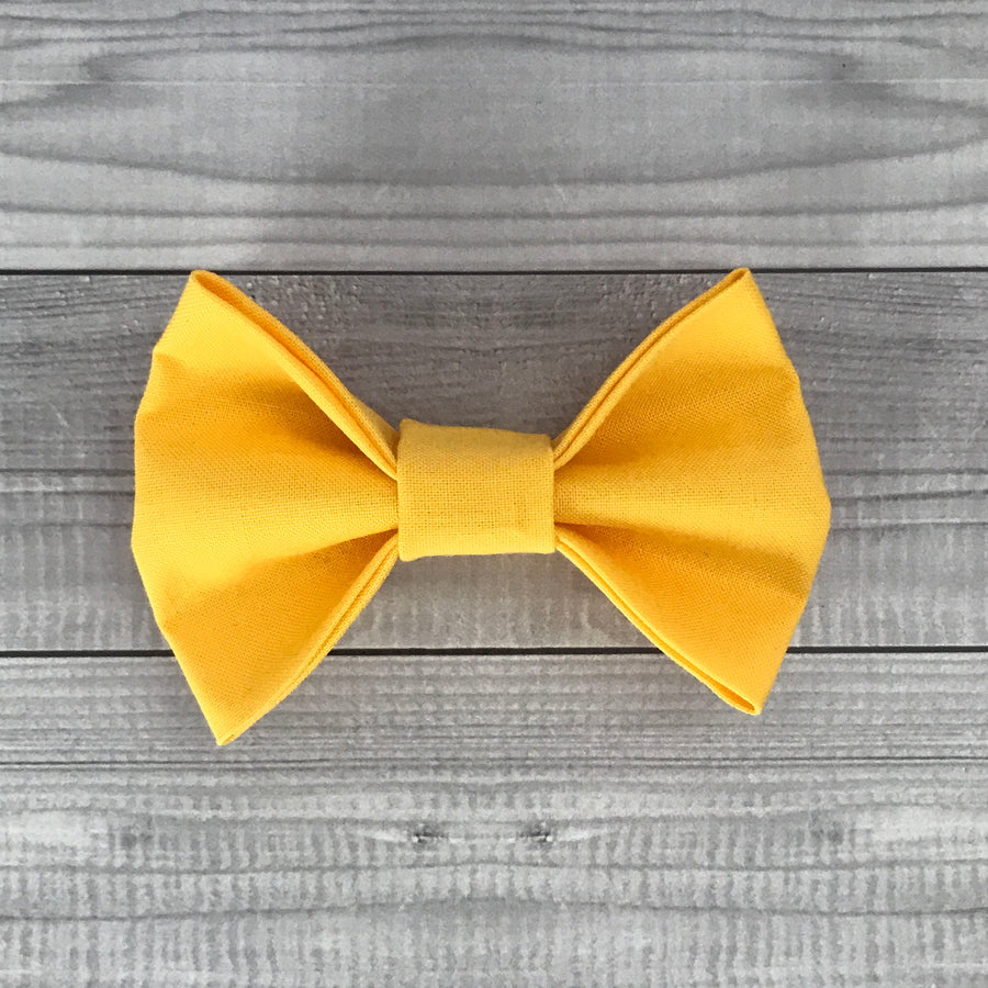 Lucky Lemon Dog Bow