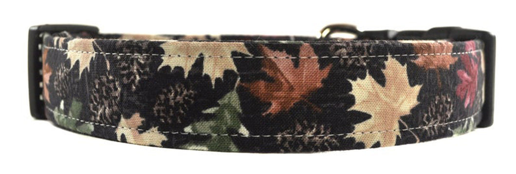 Maple Leaves Dog Collar