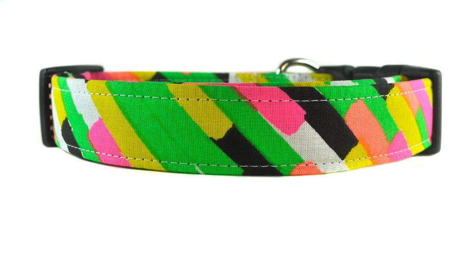 New Wave in Neon Dog Collar