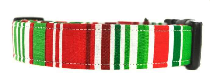 Noel Stripes Dog Collar