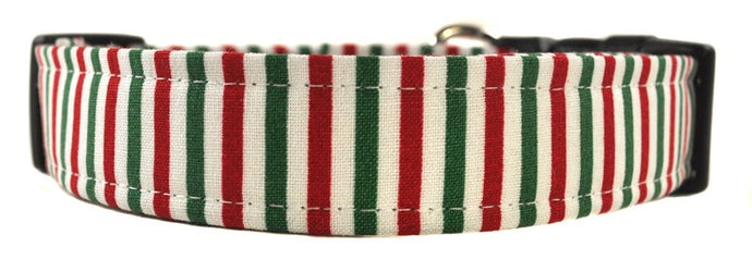 Christmas Stripe Dog Collar